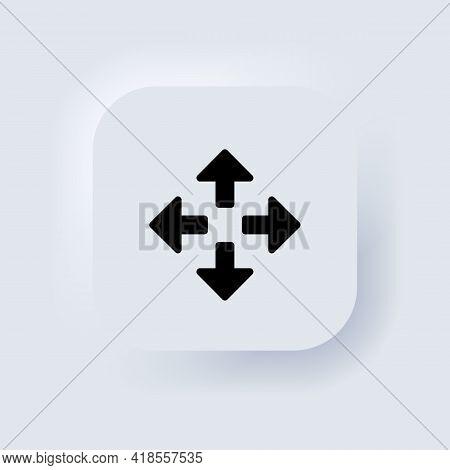 Full Screen Icon Set. Maximize Screen. Neumorphic Ui Ux White User Interface Web Button. Neumorphism