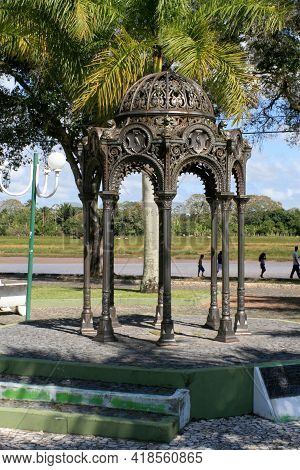 Fountain In The Square In The South Of Bahia
