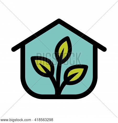 Greenhouse Color Icon Or Logo. Greenhouse Vector Icon Isolated On White Background