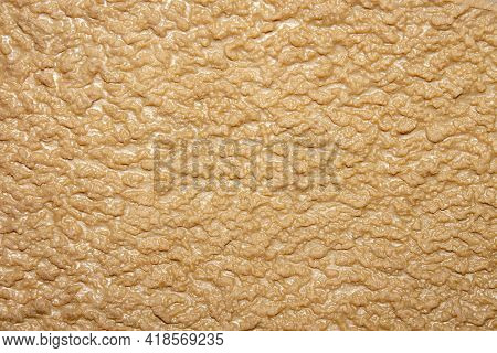 Crepe Brown Shoe Sole Background.the Texture Of The Crepe Sole Of The Shoe Is Made Of Fine-pored Rub