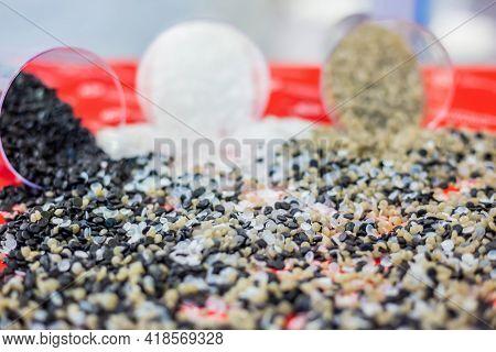 Plastic Recycling, Renewable Resource - Heap Of Secondary Polystyrene, Polyethylene, Polypropylene G