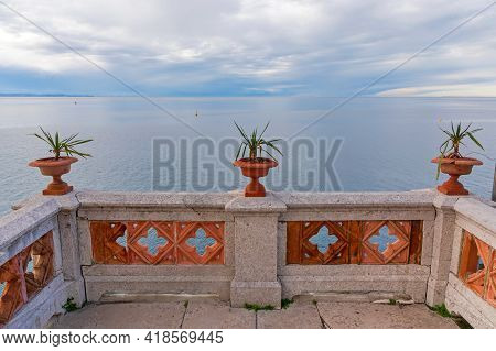 View From Terrace At Adriatic Sea Near Trieste