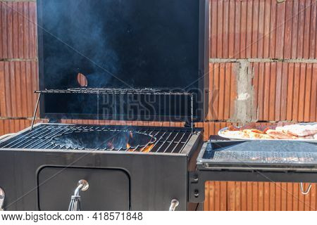 Grilling Pleasure Is Being Prepared - Grilling Time On The Charcoal Grill