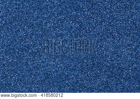 Rubber Floor Blue Texture Background. Granules Playground Cover Seamless Background.