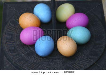 Easter Eggs On Sundial