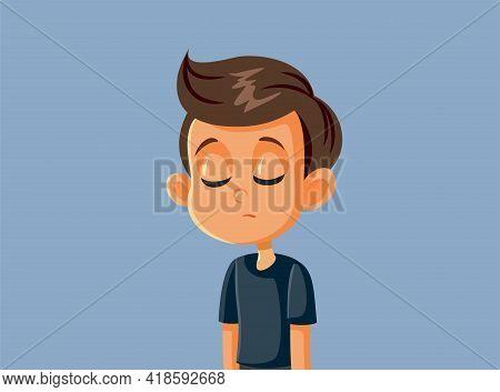 Sad Unhappy Boy Feeling Depressed And Anxious