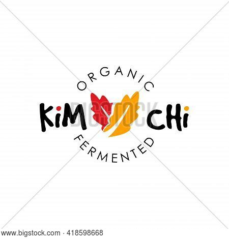 Simple Kimchi Logo Fermented Vegetable Vector For Organic Healthy Traditional Homemade Food Graphic