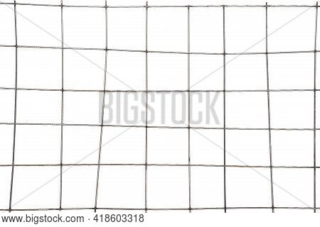 Metal Grid Isolated On The White Background. Flat View.