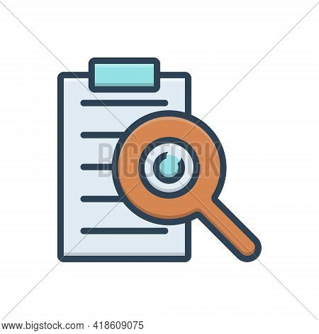 Color Illustration Icon For See View  Look Sight Watch Vision  Dristi Peep