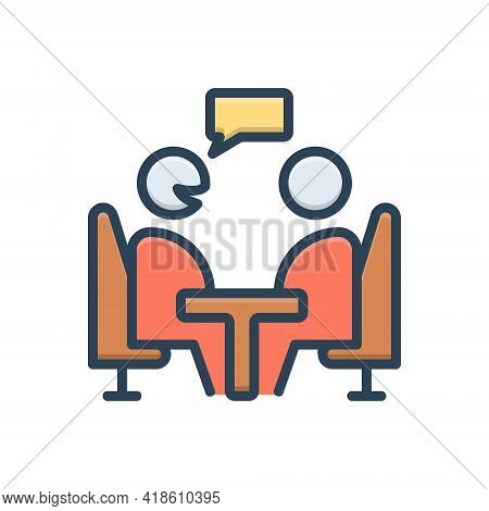 Color Illustration Icon For Consultant Opinion Advice Counsel Rede