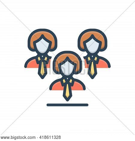 Color Illustration Icon For Leadership Lead Guidance Hegemony  Manager