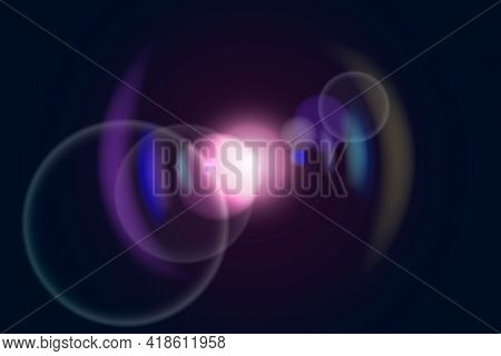 Pink lens flare with ring ghost lighting effect