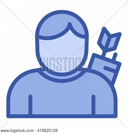 Man Archer Icon. Outline Man Archer Vector Icon For Web Design Isolated On White Background