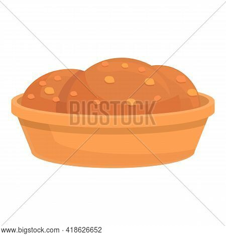 Takeaway Cookies Icon. Cartoon Of Takeaway Cookies Vector Icon For Web Design Isolated On White Back