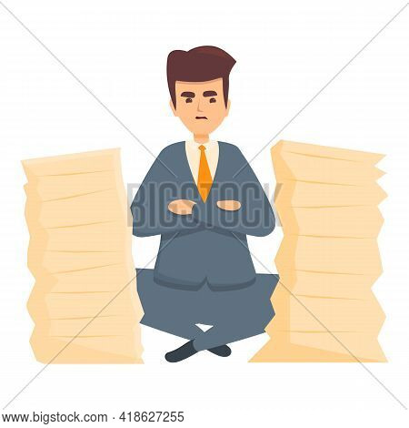 Rush Job Documents Towers Icon. Cartoon Of Rush Job Documents Towers Vector Icon For Web Design Isol