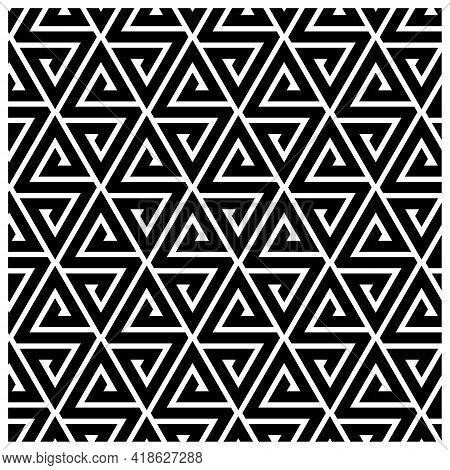 Abstract Pattern Background - Geometric Shape Futuristic Illustration Liquid Geometry Technology Tec