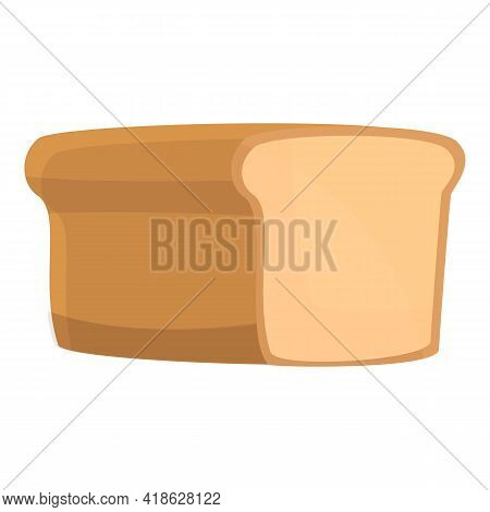 Nutrient Bread Icon. Cartoon Of Nutrient Bread Vector Icon For Web Design Isolated On White Backgrou