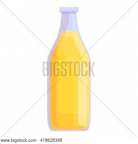 Juice Bottle Icon. Cartoon Of Juice Bottle Vector Icon For Web Design Isolated On White Background