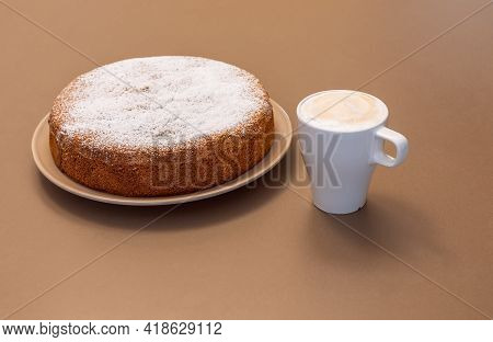 Ancient Roman Cake Made From Almonds And Dry Bread (antica Torta Alle Mandorle E Pane)