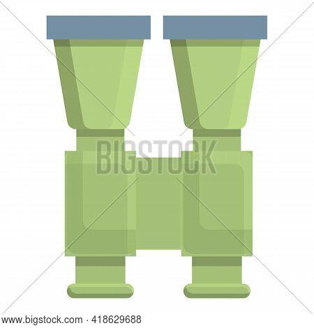 Hiking Binocular Icon. Cartoon Of Hiking Binocular Vector Icon For Web Design Isolated On White Back