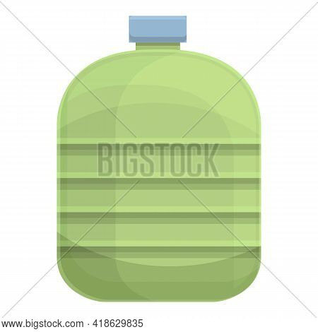 Steel Water Bottle Icon. Cartoon Of Steel Water Bottle Vector Icon For Web Design Isolated On White