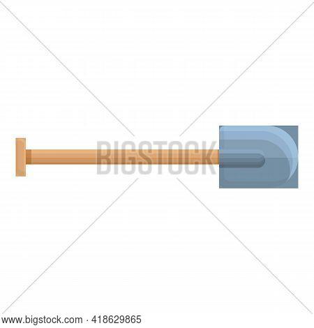 Hiking Shovel Icon. Cartoon Of Hiking Shovel Vector Icon For Web Design Isolated On White Background
