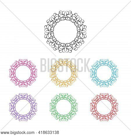Lace Frame, Lace Pattern, Stamp Or Stencil For Scrapbooking And Decorative Embossing, Die Cut Templa