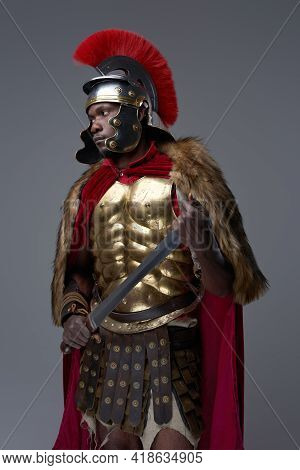 Roman Soldier Of African Descent With Sword