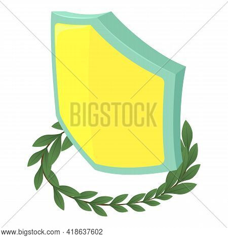 Medieval Shield Icon. Isometric Illustration Of Medieval Shield Vector Icon For Web