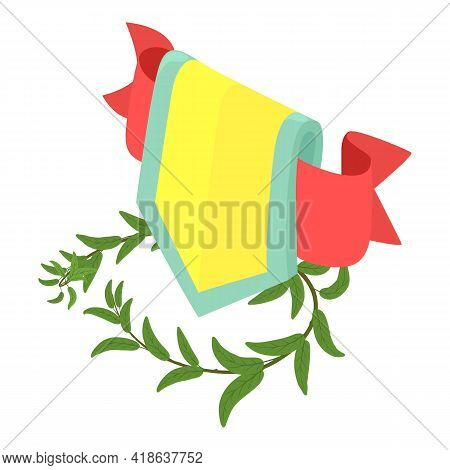 Royal Emblem Icon. Isometric Illustration Of Royal Emblem Vector Icon For Web