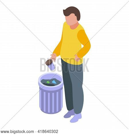 Garbage Careless Person Icon. Isometric Of Garbage Careless Person Vector Icon For Web Design Isolat