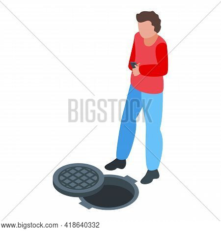 Street Careless Person Icon. Isometric Of Street Careless Person Vector Icon For Web Design Isolated