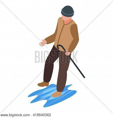 Rain Careless Person Icon. Isometric Of Rain Careless Person Vector Icon For Web Design Isolated On