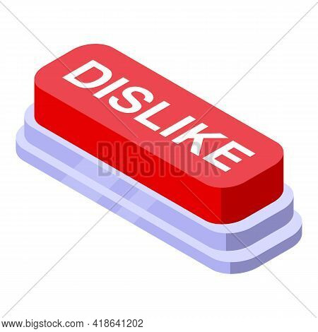 Dislike Button Icon. Isometric Of Dislike Button Vector Icon For Web Design Isolated On White Backgr