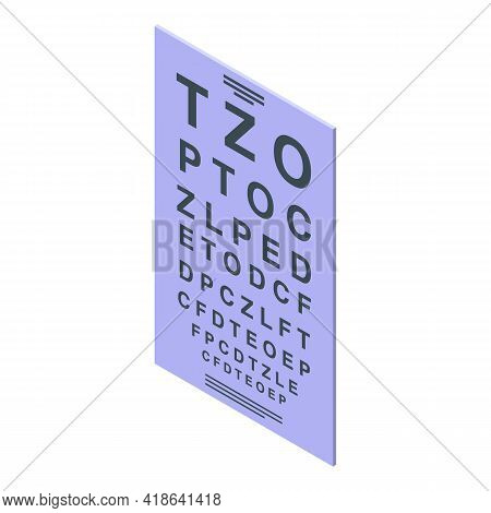 Vision Check Banner Icon. Isometric Of Vision Check Banner Vector Icon For Web Design Isolated On Wh