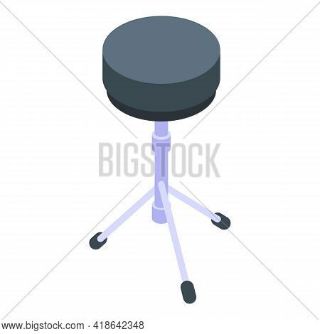 Acoustic Drum Icon. Isometric Of Acoustic Drum Vector Icon For Web Design Isolated On White Backgrou