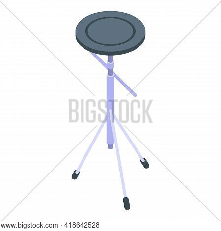 Electronic Drums Icon. Isometric Of Electronic Drums Vector Icon For Web Design Isolated On White Ba