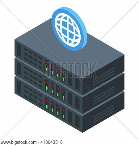 Electronic Data Server Icon. Isometric Of Electronic Data Server Vector Icon For Web Design Isolated