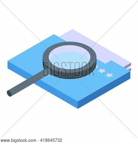 Private Files Icon. Isometric Of Private Files Vector Icon For Web Design Isolated On White Backgrou