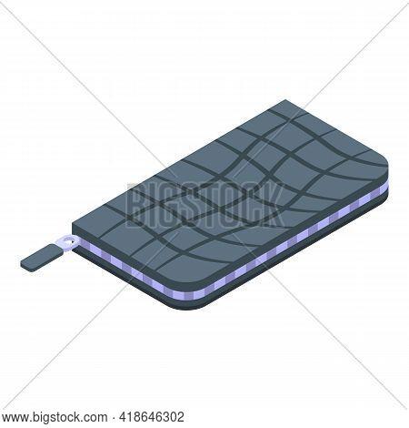 Crocodile Skin Pocket Icon. Isometric Of Crocodile Skin Pocket Vector Icon For Web Design Isolated O