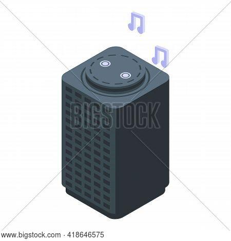 Smart Speaker Icon. Isometric Of Smart Speaker Vector Icon For Web Design Isolated On White Backgrou