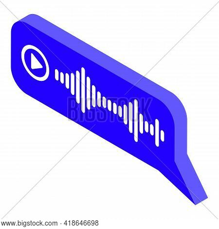 Chat Speech Recognition Icon. Isometric Of Chat Speech Recognition Vector Icon For Web Design Isolat