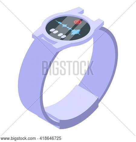 Smartwatch Speech Recognition Icon. Isometric Of Smartwatch Speech Recognition Vector Icon For Web D