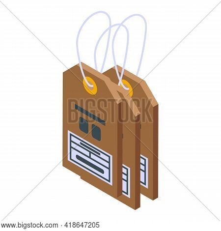 Purchase History Tags Icon. Isometric Of Purchase History Tags Vector Icon For Web Design Isolated O