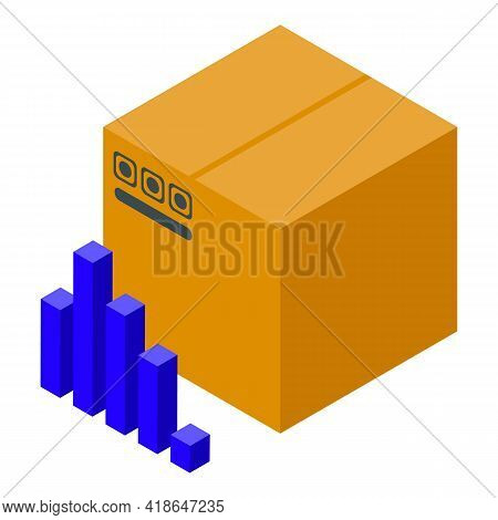 Purchase History Parcel Box Icon. Isometric Of Purchase History Parcel Box Vector Icon For Web Desig