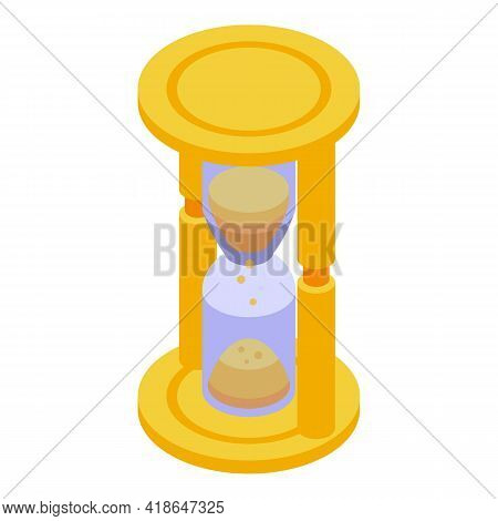 Purchase History Hourglass Icon. Isometric Of Purchase History Hourglass Vector Icon For Web Design