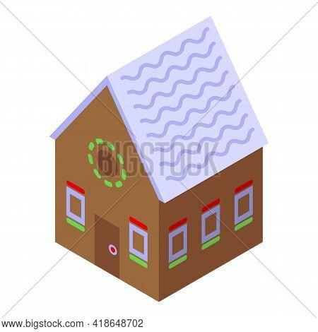 Homemade Gingerbread House Icon. Isometric Of Homemade Gingerbread House Vector Icon For Web Design