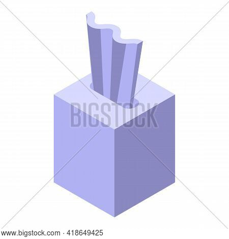 Tissue Box Icon. Isometric Of Tissue Box Vector Icon For Web Design Isolated On White Background