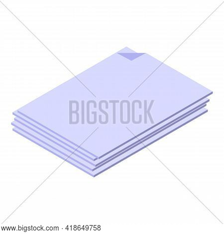 Paper Sheets Icon. Isometric Of Paper Sheets Vector Icon For Web Design Isolated On White Background