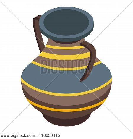 History Amphora Icon. Isometric Of History Amphora Vector Icon For Web Design Isolated On White Back